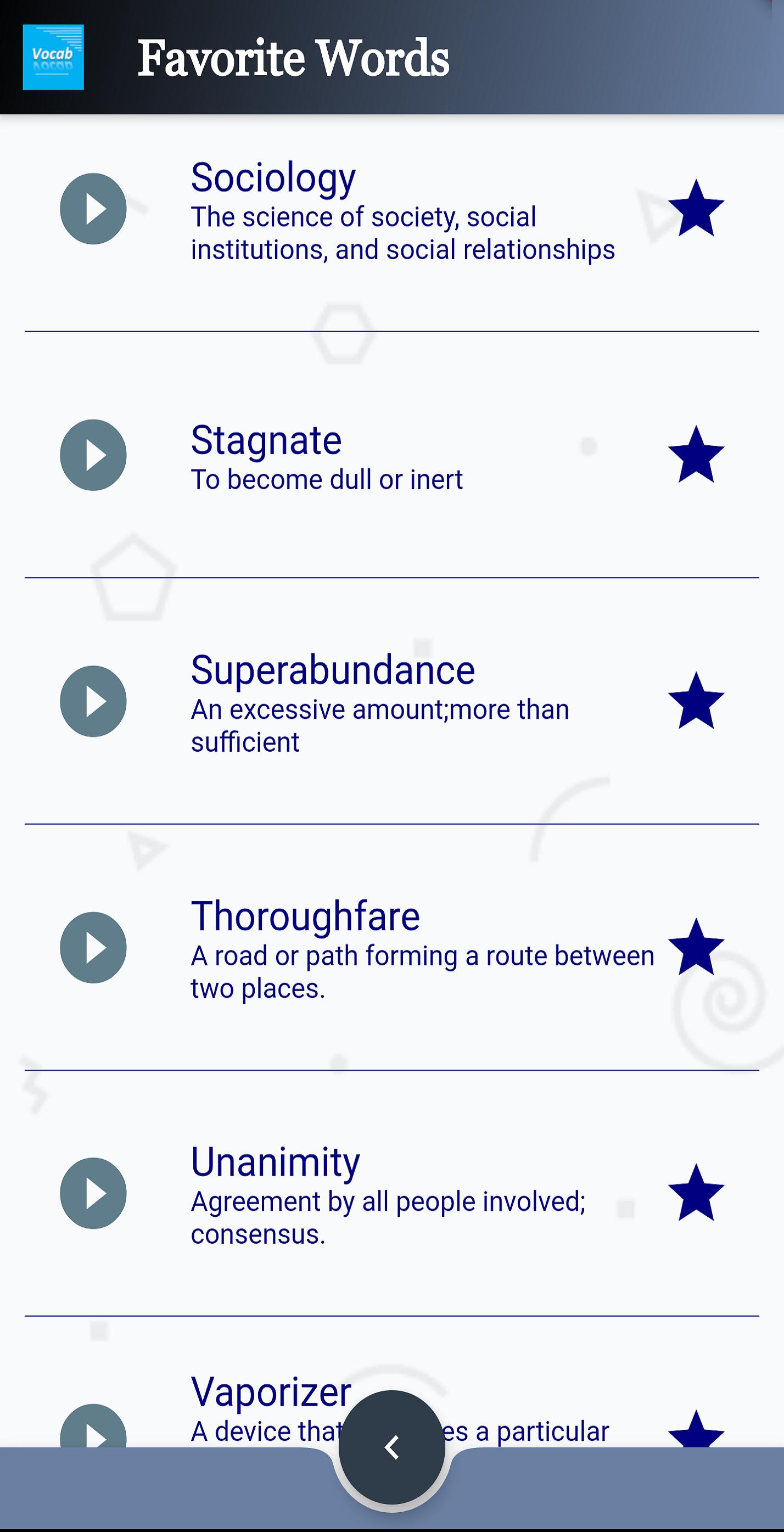 Favorite Words-Pronunciation