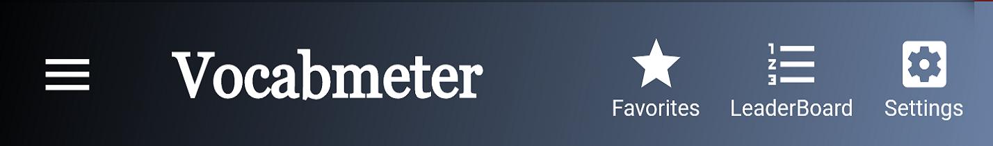 Vocabmeter Toolbar